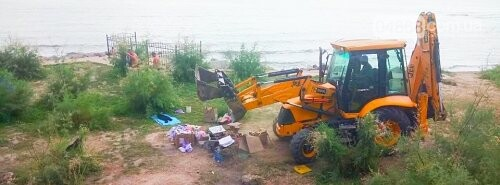 Ликвидация палаточного городка на побережье Черноморска. Возвращение «дикарей». , фото-4