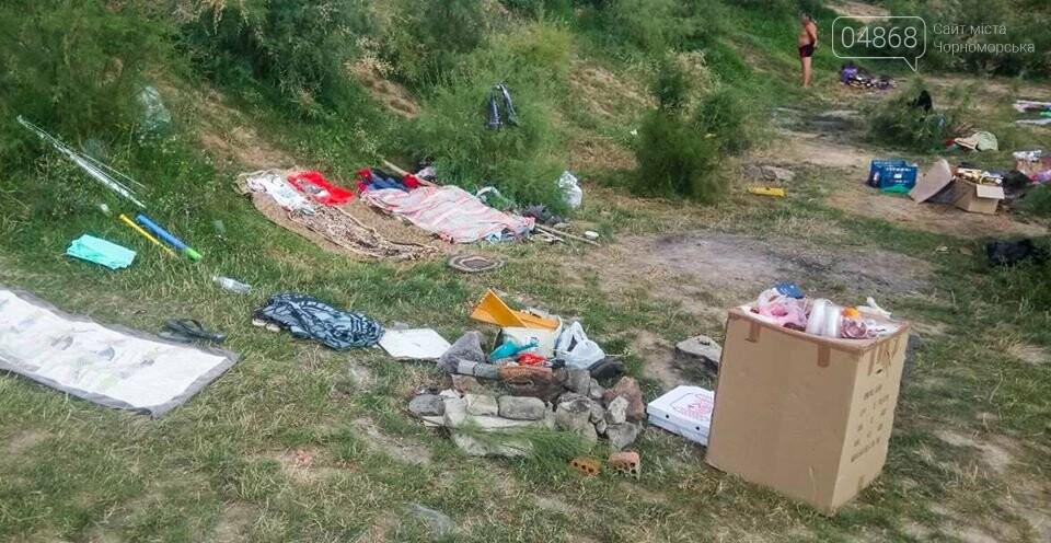 Ликвидация палаточного городка на побережье Черноморска. Возвращение «дикарей». , фото-7