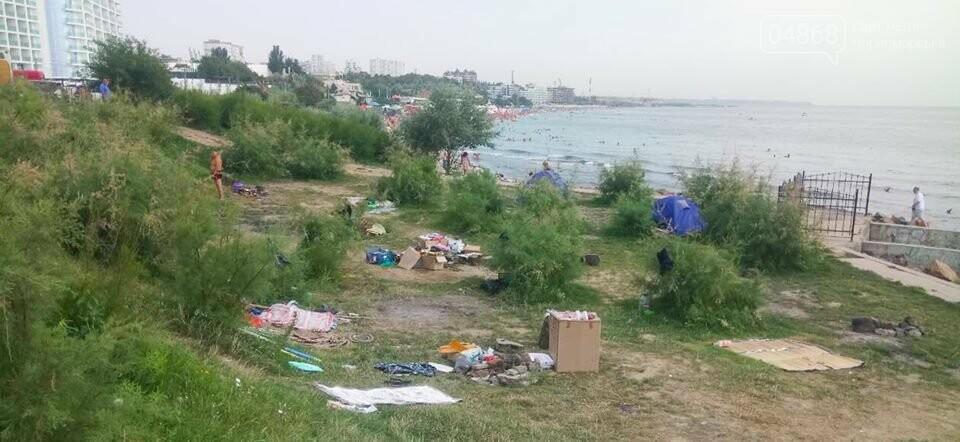 Ликвидация палаточного городка на побережье Черноморска. Возвращение «дикарей». , фото-9