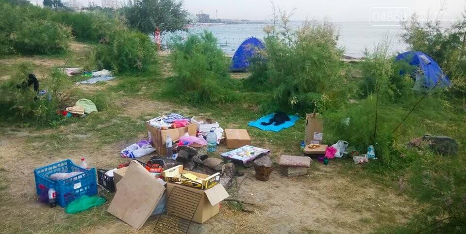 Ликвидация палаточного городка на побережье Черноморска. Возвращение «дикарей». , фото-11