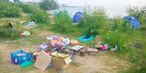 Ликвидация палаточного городка на побережье Черноморска. Возвращение «дикарей». , фото-3