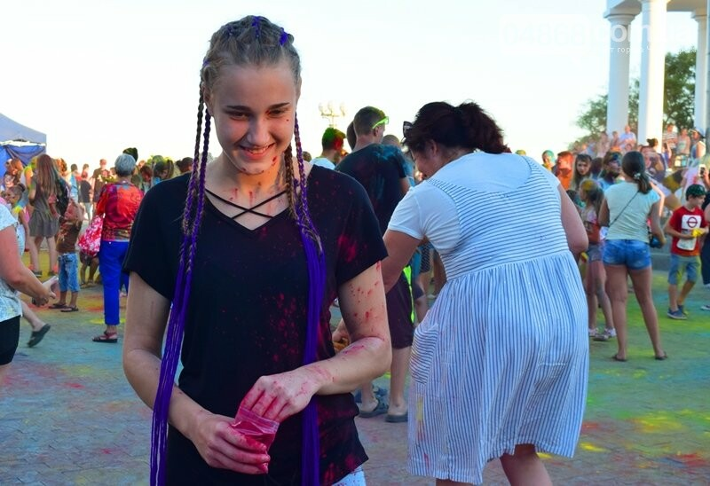 Яркие эмоции, драйв и позитив: в Черноморске прошла «Битва красок» , фото-19