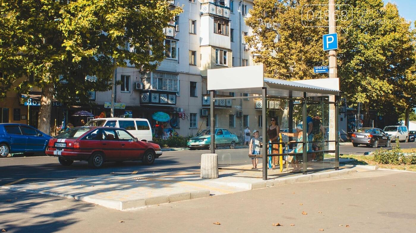 В Черноморске завершены работы по монтажу новых остановок, фото-5