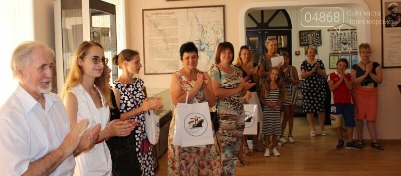 В Музее истории порта наградили юных художников Черноморска, фото-11