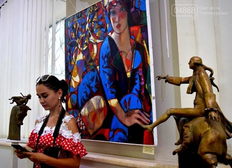 Библейские сюжеты и одесские дворики: в Черноморске открылась выставка трёх Народных художников, фото-8