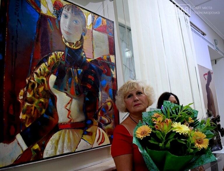 Библейские сюжеты и одесские дворики: в Черноморске открылась выставка трёх Народных художников, фото-7
