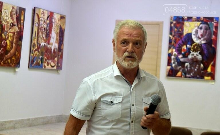 Библейские сюжеты и одесские дворики: в Черноморске открылась выставка трёх Народных художников, фото-10