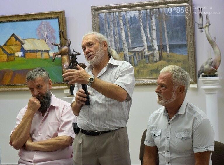 Библейские сюжеты и одесские дворики: в Черноморске открылась выставка трёх Народных художников, фото-1