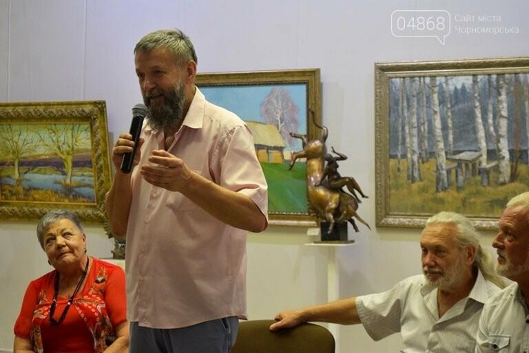 Библейские сюжеты и одесские дворики: в Черноморске открылась выставка трёх Народных художников, фото-21