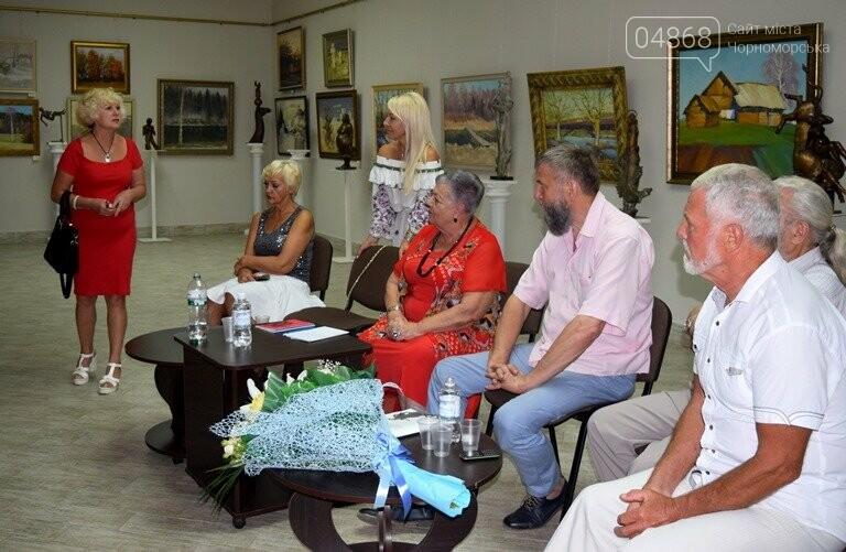 Библейские сюжеты и одесские дворики: в Черноморске открылась выставка трёх Народных художников, фото-22