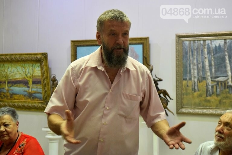 Библейские сюжеты и одесские дворики: в Черноморске открылась выставка трёх Народных художников, фото-23