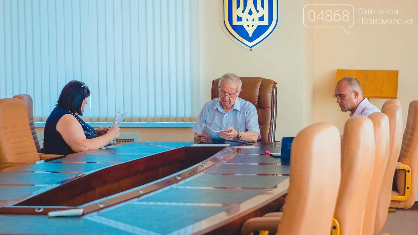 Мэр Черноморска провел личный приём граждан, фото-6