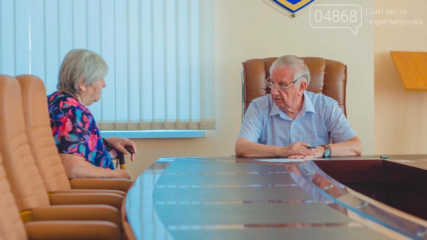 Мэр Черноморска провел личный приём граждан, фото-3