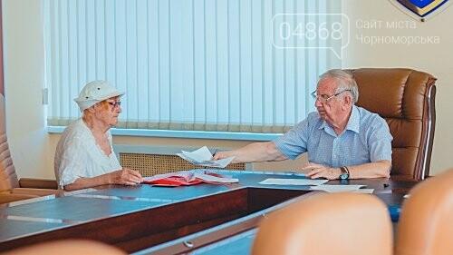Мэр Черноморска провел личный приём граждан, фото-1