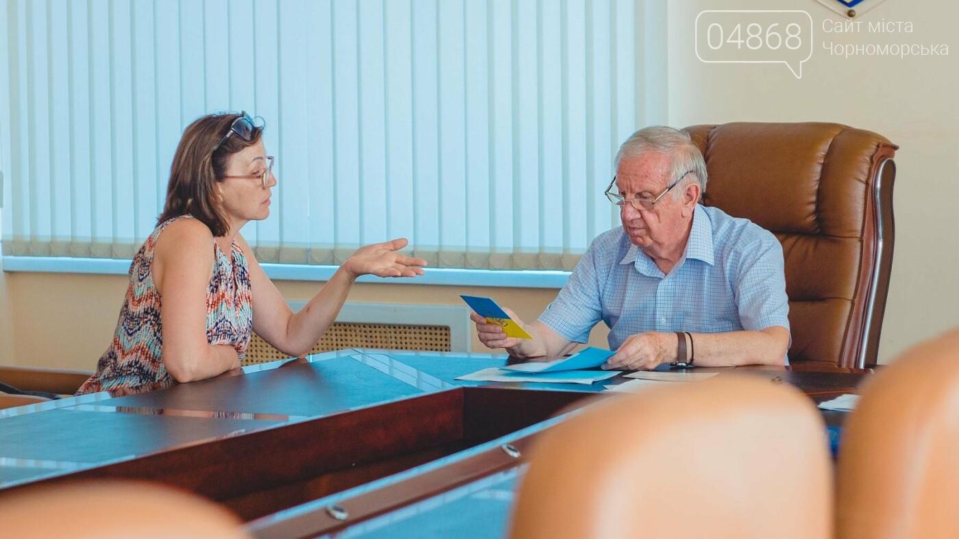 Мэр Черноморска провел личный приём граждан, фото-8