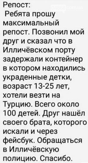 Полиция Черноморска проверила информацию об обнаружении в порту контейнера с детьми, фото-1