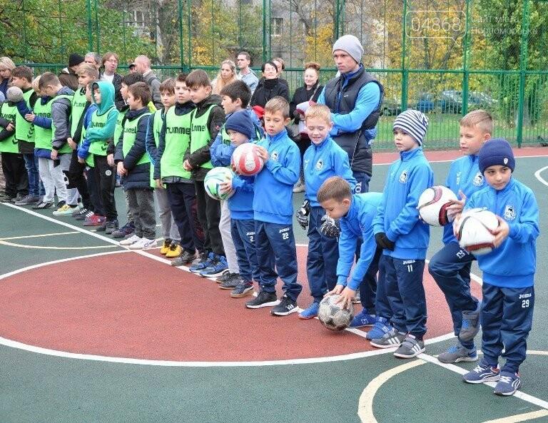 В Черноморске открыли современную спортивную площадку , фото-4