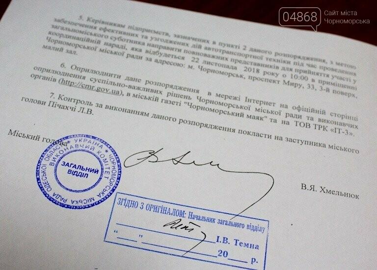 В Черноморске пройдёт осенний субботник, фото-8