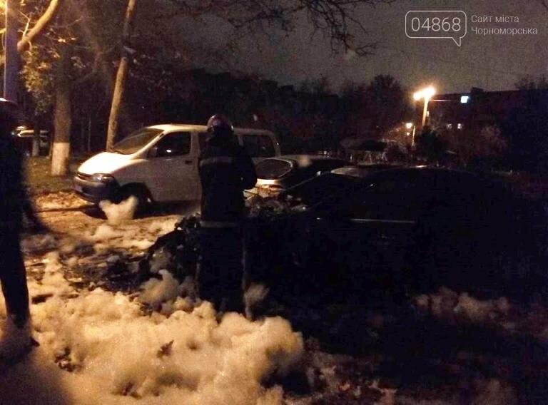 Утро понедельника: в Черноморске горели две иномарки, фото-2
