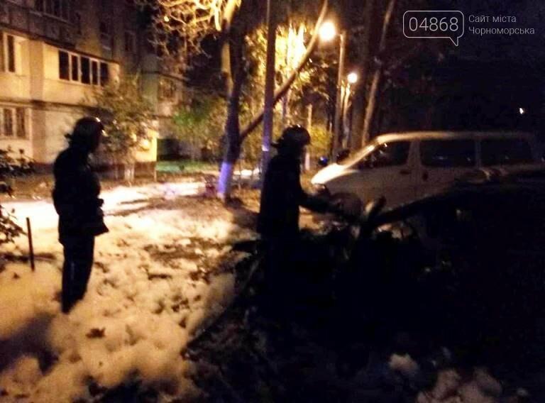Утро понедельника: в Черноморске горели две иномарки, фото-3