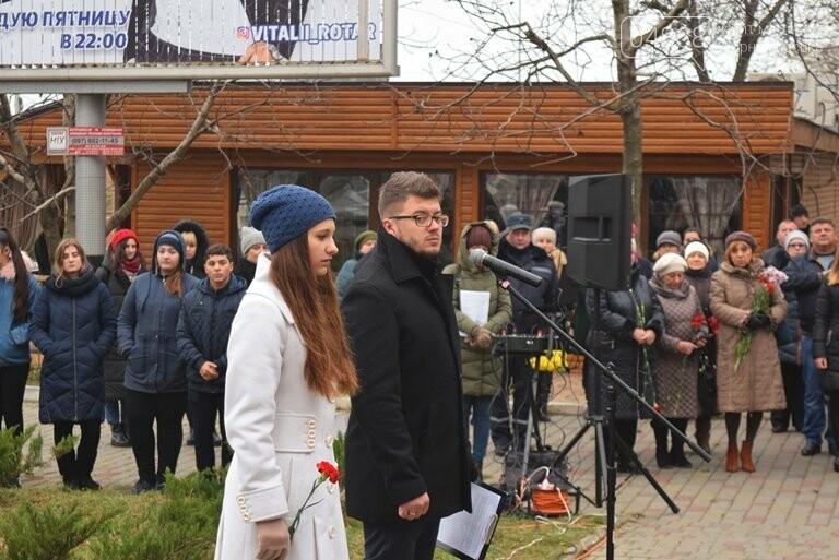 100 гвоздик на аллее Небесной сотни: в Черноморске отметили День Достоинства и Свободы, фото-16