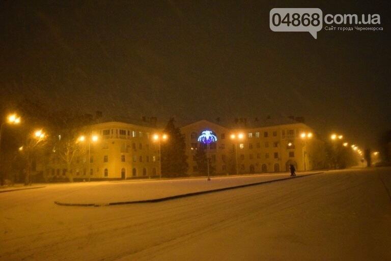 «Остаёмся зимовать»: Черноморск засыпает снегом (фото), фото-11