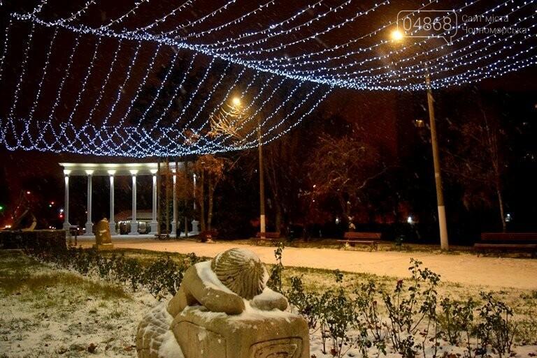«Остаёмся зимовать»: Черноморск засыпает снегом (фото), фото-4