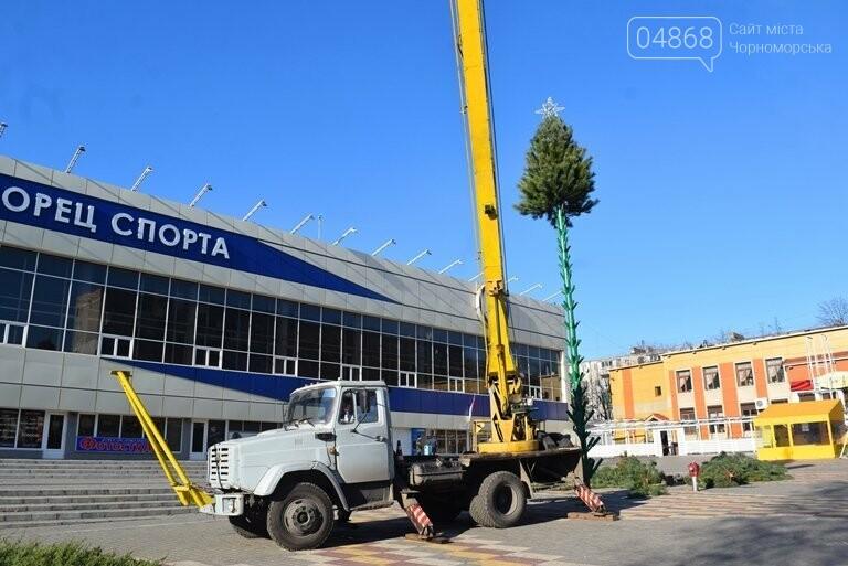 В Черноморске устанавливают главную городскую ёлку, фото-11