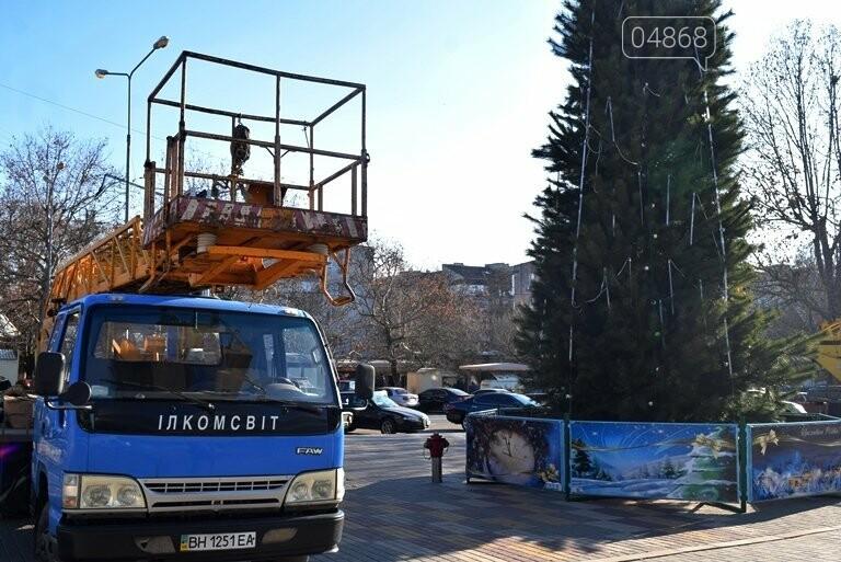 Кражей гирлянд с главной новогодней ёлки Черноморска занялась полиция, фото-1