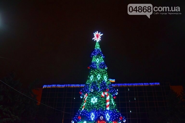 В Черноморске засверкала огнями новогодняя ёлка от «Люмьера», фото-10
