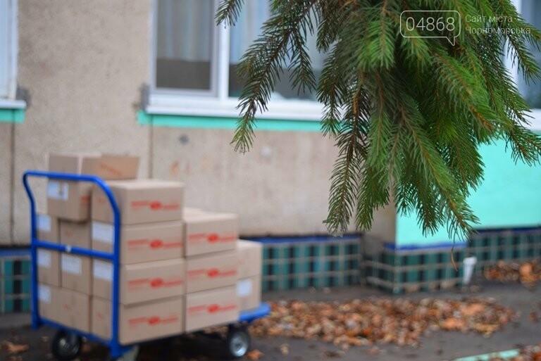 «Свято наближається»: в Черноморск привезли новогодние подарки для детей из садиков и школ, фото-5