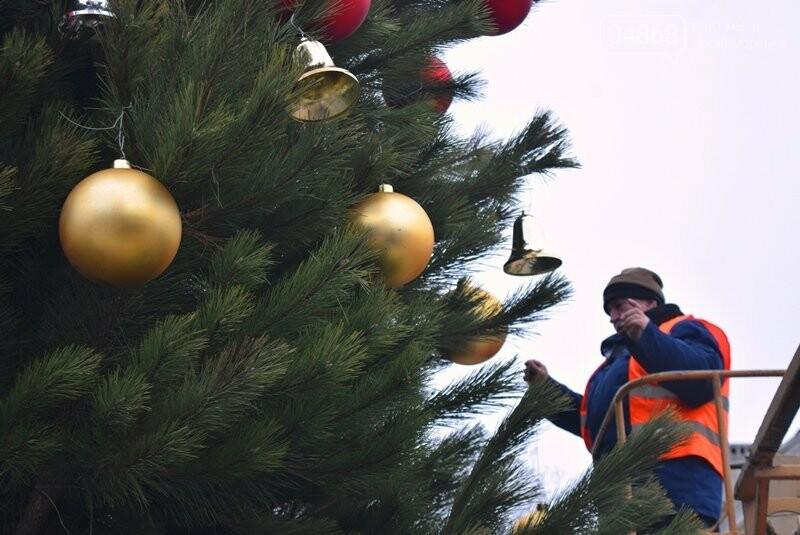Новогодняя ёлка черноморских портовиков примеряет праздничный наряд, фото-10
