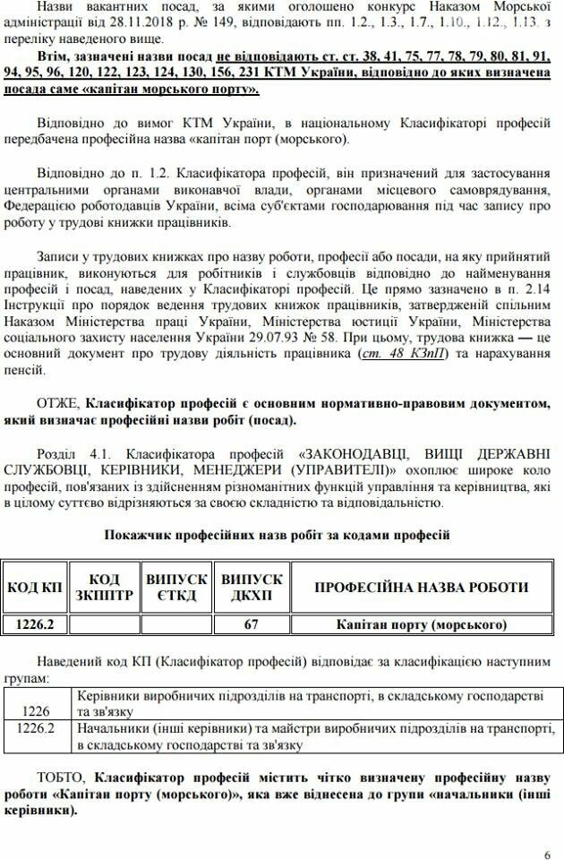 Нелегитимное назначение капитана порта в Черноморске - результат конкурса, фото-8