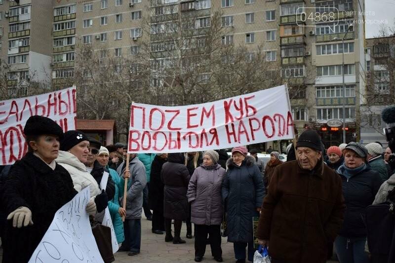 «Деньги реальные, тарифы надуманные»: жители Черноморска вышли на митинг против повышения цен на воду, фото-10