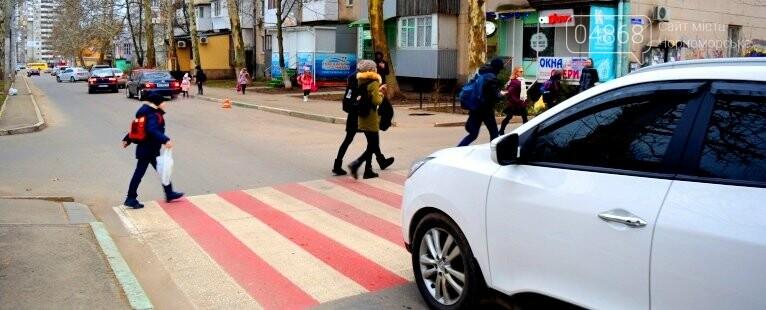 Насколько безопасны пешеходные переходы у школ Черноморска?, фото-22