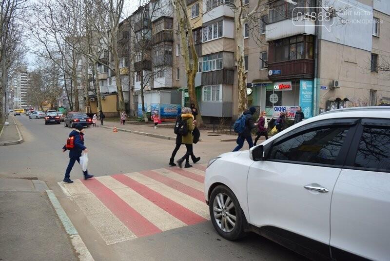 Насколько безопасны пешеходные переходы у школ Черноморска?, фото-23