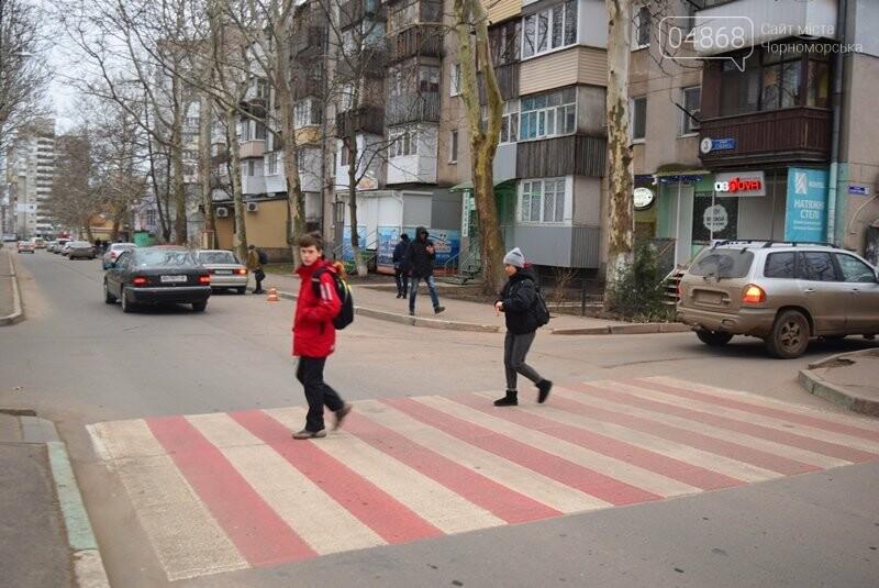 Насколько безопасны пешеходные переходы у школ Черноморска?, фото-26