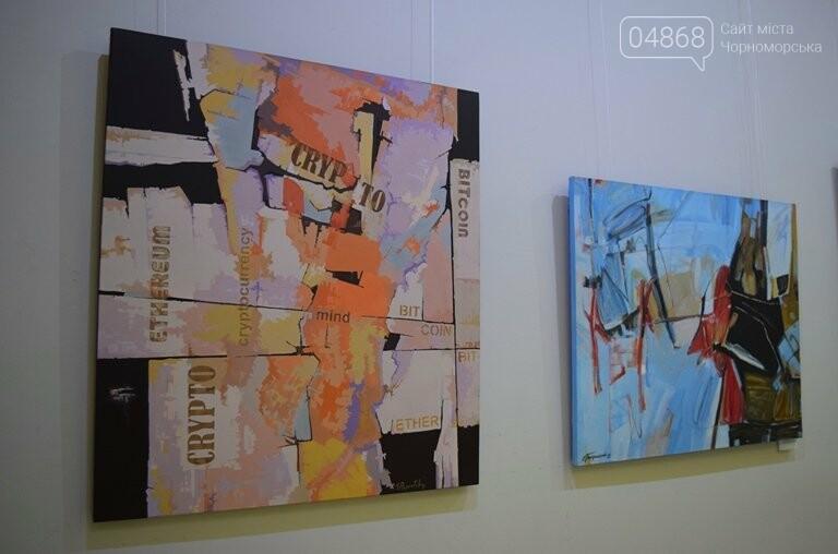 «Сучасний ненаратив»: в Черноморске представили выставку абстрактной живописи, фото-3