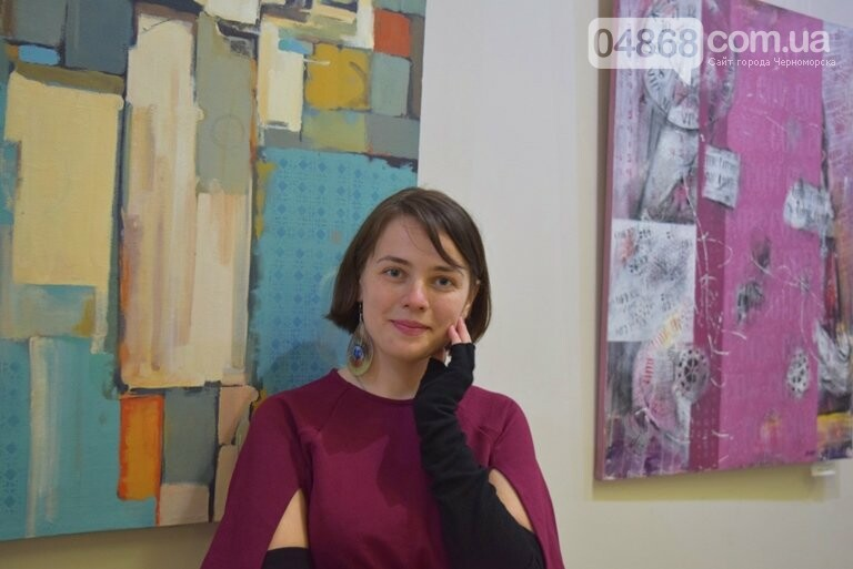 «Сучасний ненаратив»: в Черноморске представили выставку абстрактной живописи, фото-1