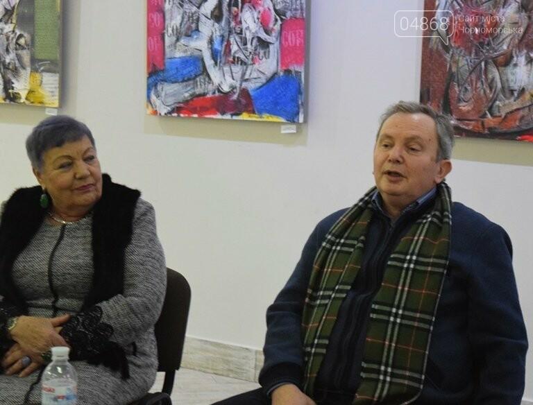«Сучасний ненаратив»: в Черноморске представили выставку абстрактной живописи, фото-7