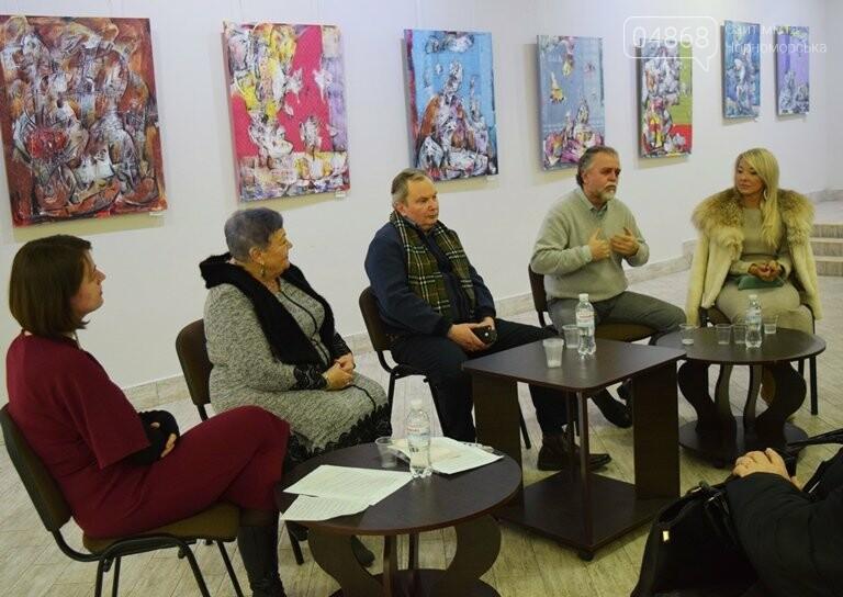 «Сучасний ненаратив»: в Черноморске представили выставку абстрактной живописи, фото-2