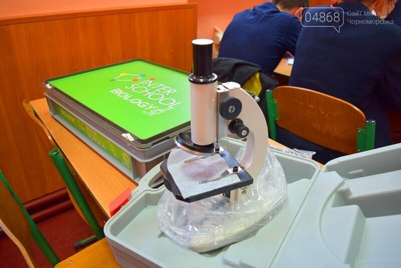 Гимназия Черноморска получила в подарок от губернатора области 3 современных класса-лаборатории (видео), фото-5
