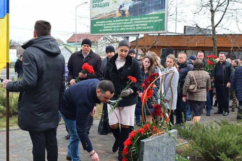В Черноморске почтили память Героев Небесной Сотни, фото-16