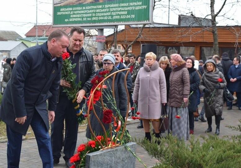 В Черноморске почтили память Героев Небесной Сотни, фото-17