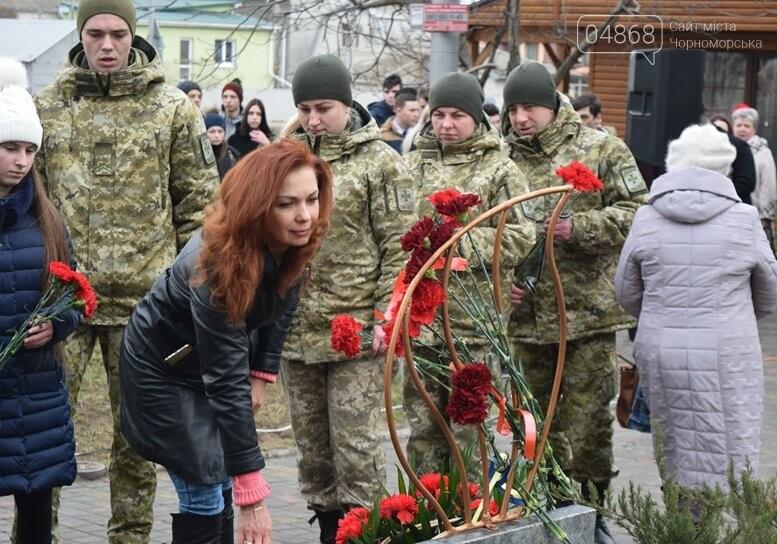 В Черноморске почтили память Героев Небесной Сотни, фото-20