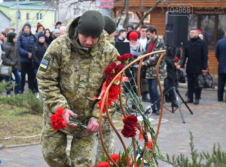 В Черноморске почтили память Героев Небесной Сотни, фото-24