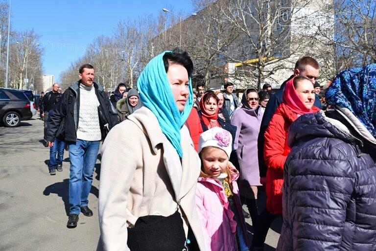 В Черноморске прошёл Крестный ход с молитвой о мире, фото-11