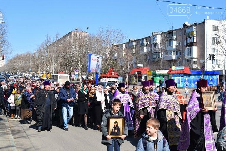 В Черноморске прошёл Крестный ход с молитвой о мире, фото-4