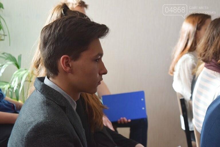 Старшеклассники Черноморска обсуждали актуальные экологические проблемы (видео), фото-12