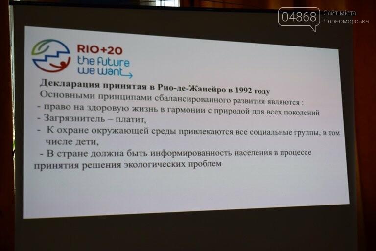 Старшеклассники Черноморска обсуждали актуальные экологические проблемы (видео), фото-7